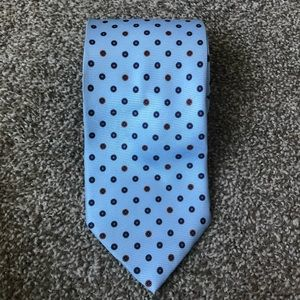 Jos A. Bank silk tie blue print